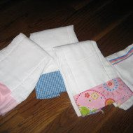 Burp Cloths or Tea Towels from Fabric Scraps