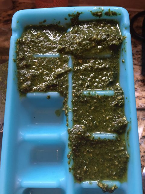 Freezing pesto recipe