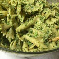 Homemade Pesto and Pesto and Pea Pasta Salad Recipe