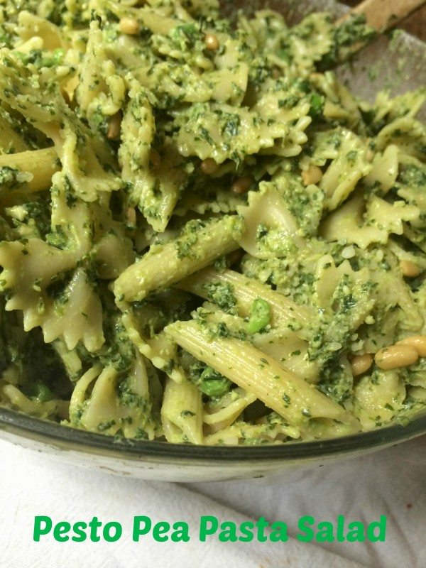 Homemade Pesto and Pesto and Pea Pasta Salad Recipe