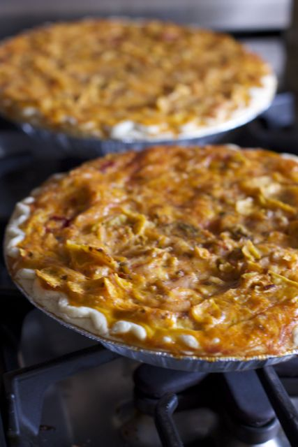 Make Ahead chicken enchiladas quiche