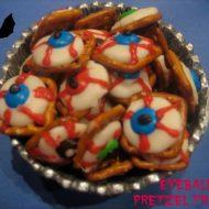 Super Easy Eye Ball Halloween Pretzel Treats