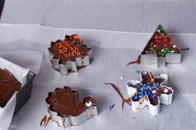 3 ingredient Easy Fudge Recipe cookie cutter