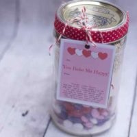 Valentines Day Layered Cookies in A Jar