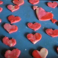 Play Dough Heart Cookies