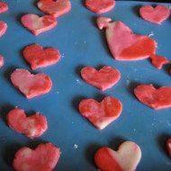 Play Dough Heart Cookies