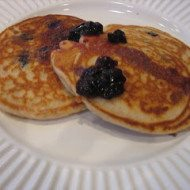 Easy Buttermilk Pancakes with Blueberries