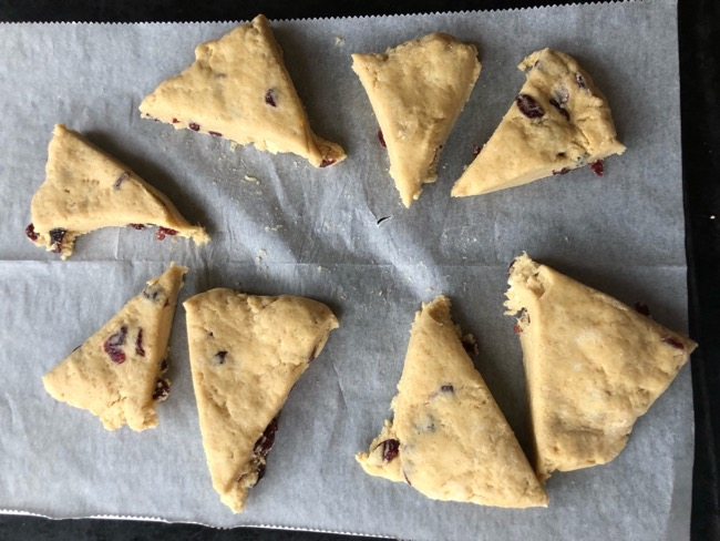 how to freeze unbaked scones