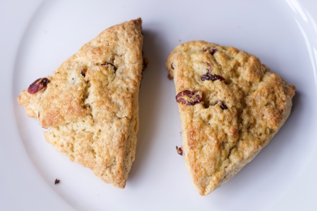 top view of make ahead scones