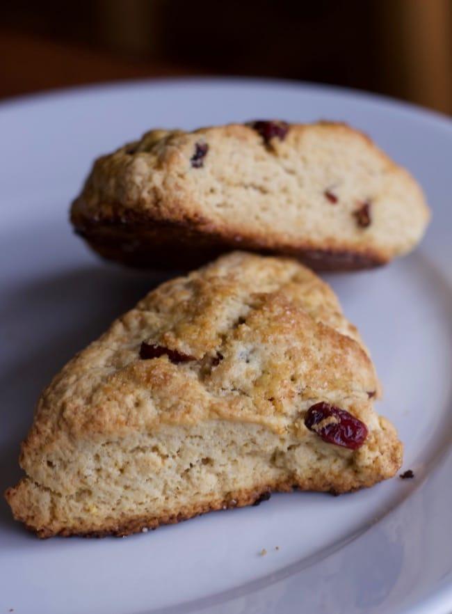 vertical shot of baked scones