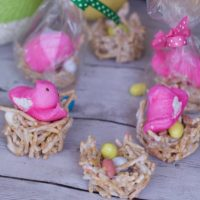 Chow Mein Noodle Bird Nest Cookies:  Easter Party Favors