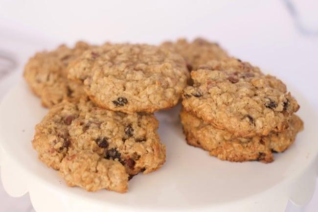 Oatmeal Cookies Recipe close up