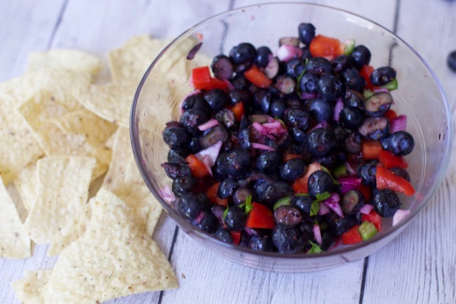 Fruit Salsa Blueberry Salsa 1