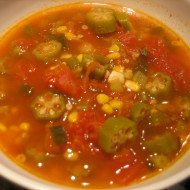 Okra a new vegetable in our family–Tomato okra soup