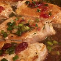 Pork Chops with Cranberry Thyme Sauce