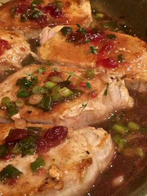Using Leftover Cranberry Sauce- Quick Pork Chop Recipes