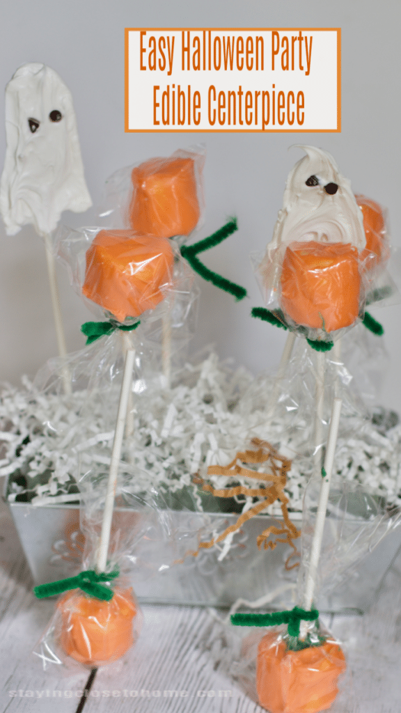 Halloween Pumpkin Pops and Easy Halloween Party Edible Centerpiece
