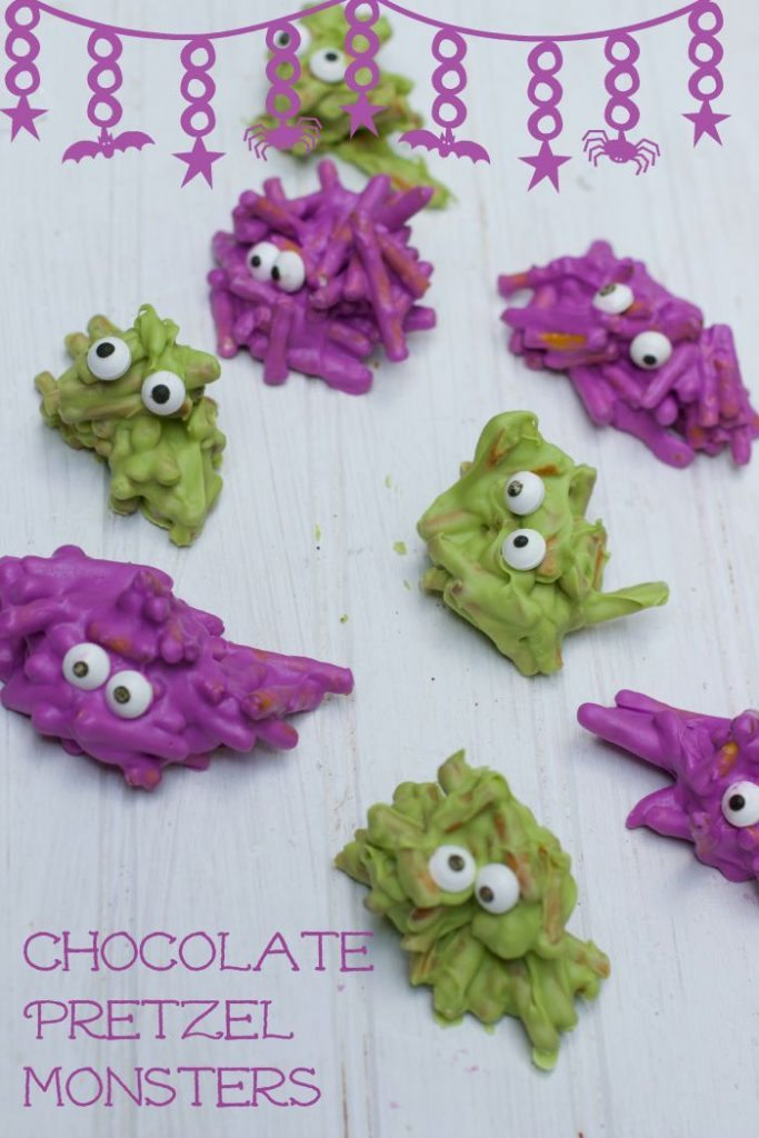 chocolate covered-pretzel monsters