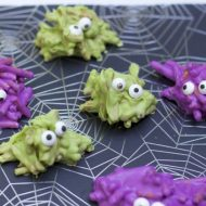 Chocolate Covered Pretzel Monsters Halloween Treat