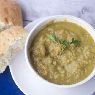 No Effort Slow Cooker Split Pea Soup Recipe
