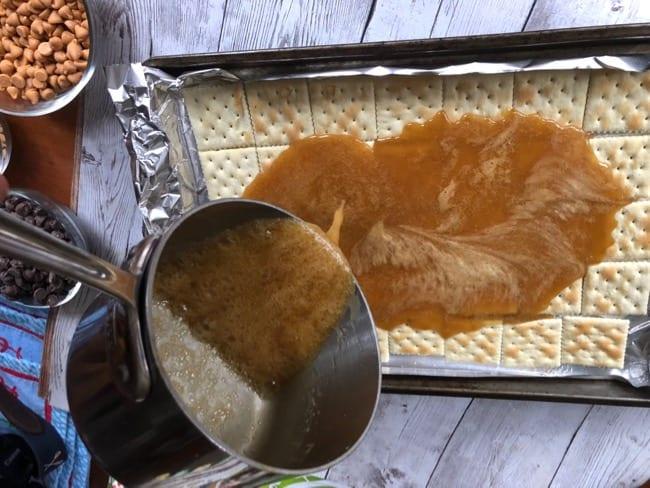 Easy Saltine Toffee fools toffee saltine toffee