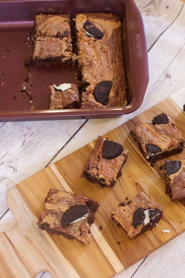 Peanut Butter Oreo Brownies Recipes shot