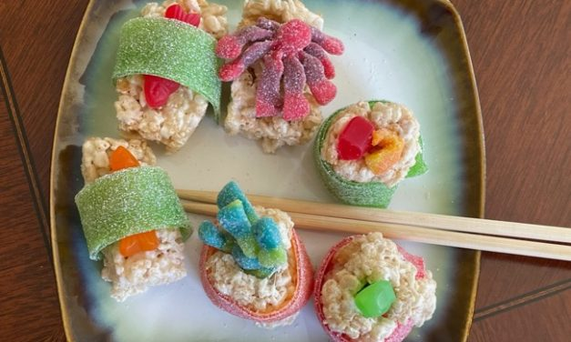 How to Make Candy Sushi with Rice Krispies