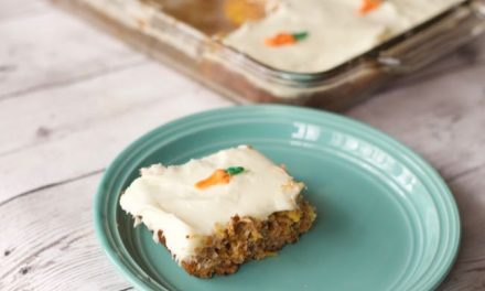 Low Fat Carrot Cake Recipe & Chocolate Carrot Decorations