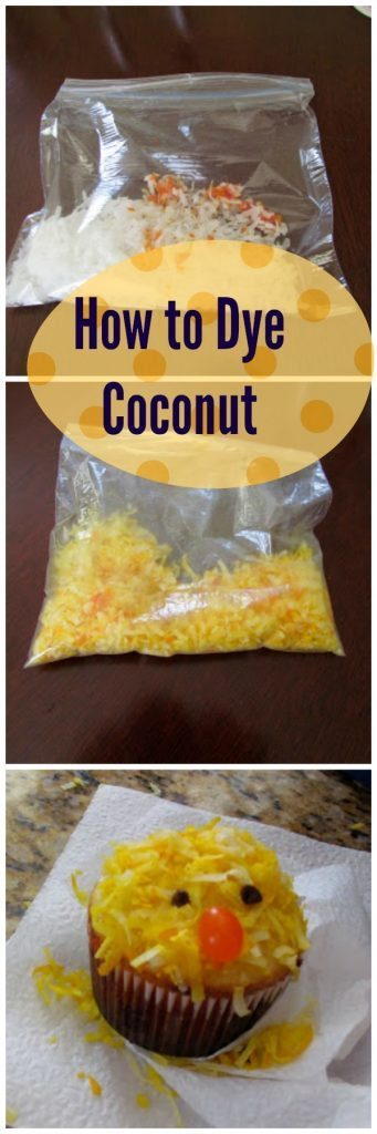 how to dye coconut