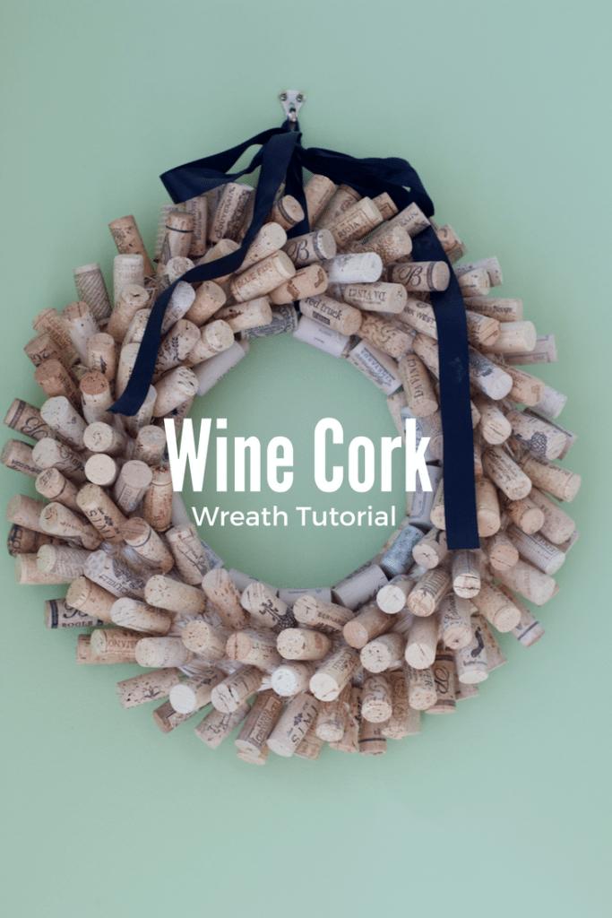 DIY Wine Cork Wreath Tutorial