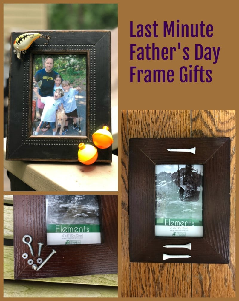 Last Minute Homemade Father's Day frame Gift Ideas