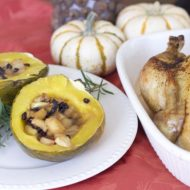 Baked Acorn Squash with Apple Filling Recipe: Thanksgiving Side Dish