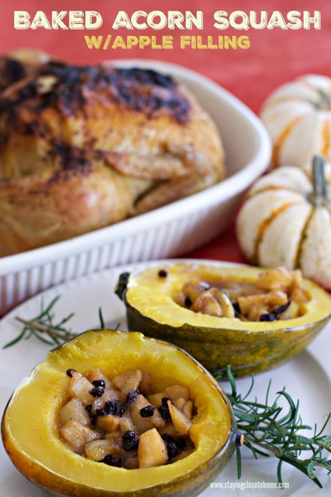 Baked acorn squash with apple filling recipe