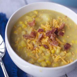 NO fuss Cheese and Corn Chowder recipe