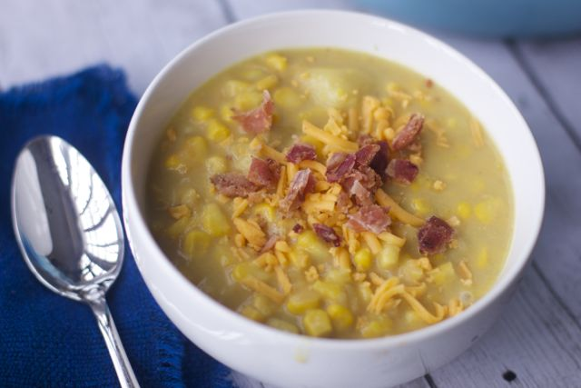 NO fuss Cheese and Corn Chowder recipe
