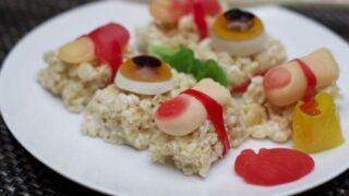 Creepy Halloween Food Ideas:  Halloween Candy Sushi
