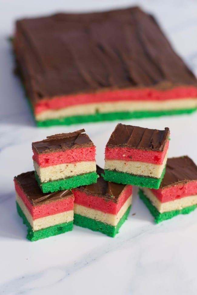 Traditional Italian Rainbow Cookies Recipe