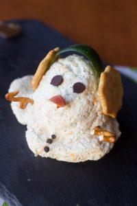 melting snowman ranch cheese ball