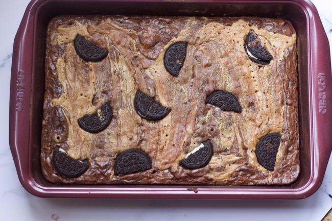 Peanut Butter Oreo Brownie recipe