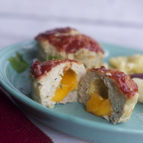 Cheese stuffed mini meat loves