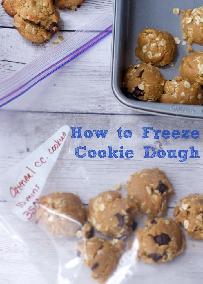 How to Easily Freeze Cookie Dough To Easy to Bake Servings.