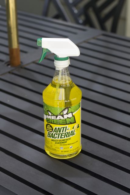 mean green antibacterial cleaning your fridge