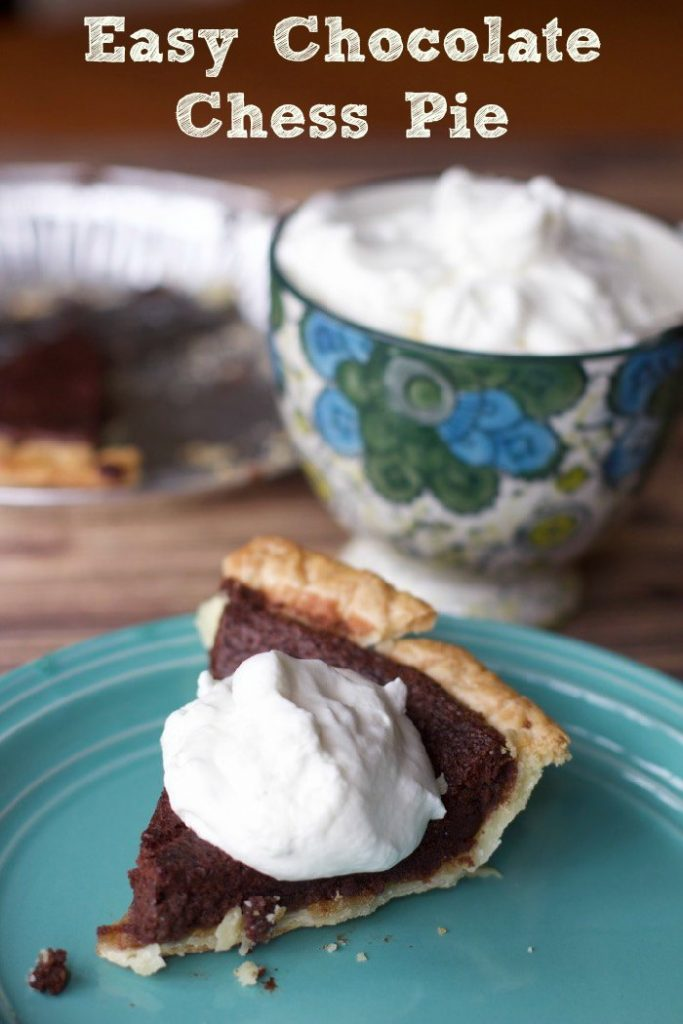 Easy Chocolate Chess Pie