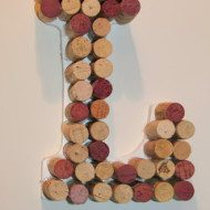 Crafts Using Corks a Wine Cork Monogram