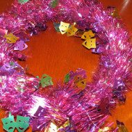 Dollar Store Mardi Gras Wreath