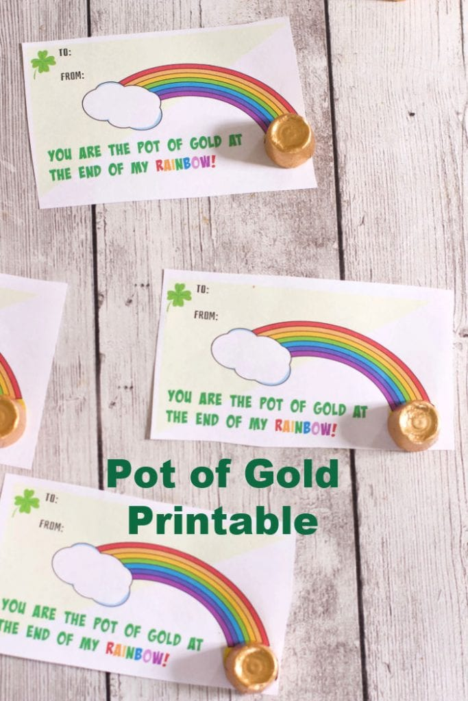 Pot of Gold Gift Idea printable classroom