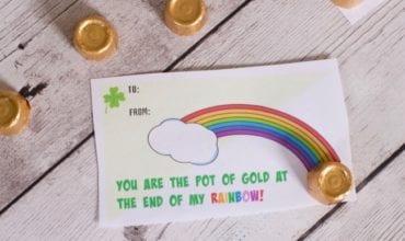 Pot of gold gift idea printable St Patricks day