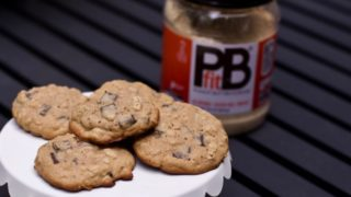 Baking with Peanut Butter Powder: Peanut Butter Oatmeal Chocolate Chip Cookies