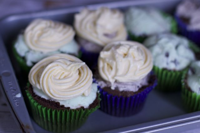 Blue Bunny Ice Cream Cupcakes are sure to be a crowd pleaser this summer.