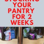 stock pantry for coronovirus